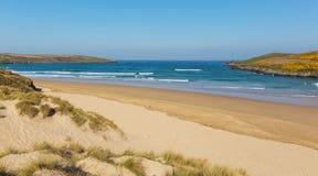 Crantock beach North Cornwall England UK near Newquay Stock Photos