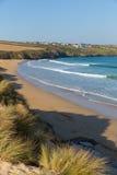 Crantock beach North Cornwall England UK near Newquay Royalty Free Stock Photos