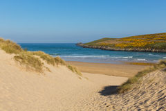 Crantock beach North Cornwall England UK near Newquay Royalty Free Stock Photography