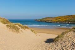 Crantock beach North Cornwall England UK near Newquay Royalty Free Stock Photography