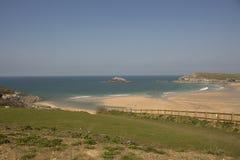 Crantock et l'oie d'île, les Cornouailles du nord Images stock