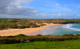Crantock North Cornwall England UK near Newquay Royalty Free Stock Images