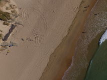 Crantock plaża od above Zdjęcia Royalty Free