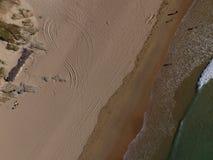 Crantock-Strand von oben lizenzfreie stockfotos