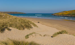 Crantock surfing beach North Cornwall England UK near Newquay Royalty Free Stock Photo