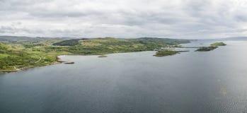 Craobh tillflyktsort som ses från luften, Skottland arkivfoto