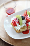 Crape cake with fruit Royalty Free Stock Images