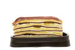 Crape cake isolated on white background Royalty Free Stock Image