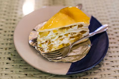 Crape cake sweet with mango Royalty Free Stock Images