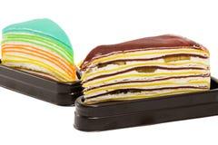 Crape tort odizolowywający na białym tle Zdjęcie Stock