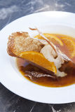 Crape z pomarańczowym sorbet Zdjęcie Stock