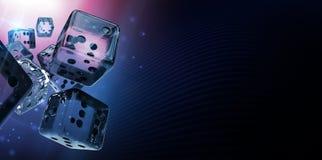 Craps χαρτοπαικτικών λεσχών διαμαντιών χωρίζει σε τετράγωνα Στοκ Εικόνες