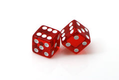 Craps. On a white background Royalty Free Stock Image