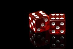 Craps. On a black background Royalty Free Stock Photo