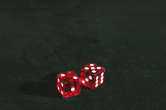 Craps Dice - 7. 2 Dice with 7 showing, a 5 and a 2 stock photos