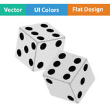 Craps dice icon royalty free illustration