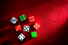 Craps Dice for Shooting Gambling Game Royalty Free Stock Images