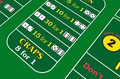 Craps-game background. Craps-game table background. Casino Stock Photo
