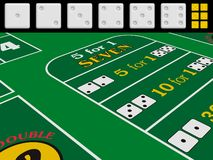 Craps-game collection Royalty Free Stock Photography