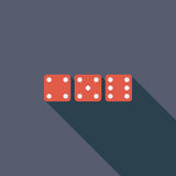 Craps icon. Flat vector related icon with long shadow for web and mobile applications. It can be used as - logo, pictogram, icon, infographic element. Vector stock illustration