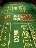 Craps table. A craps table at a casino Royalty Free Stock Photography