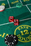 Craps Table Royalty Free Stock Photos