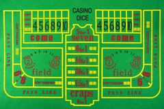 Craps table background Stock Image