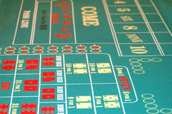 Craps Table BG 2 Royalty Free Stock Photos