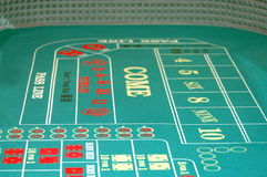 Craps Table BG Royalty Free Stock Images