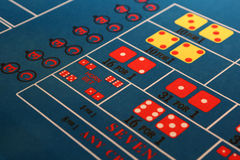 Craps table. A section of a craps casino game is shown Royalty Free Stock Image