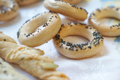 Craquelins et breadsticks Photographie stock