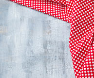 Craquelure background with red textile. Crackle background with red polka dots textile Royalty Free Stock Image