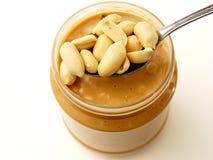 Craquement de beurre d'arachide Photos libres de droits