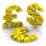 craquement de crédit Photo stock