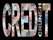 Craquement de crédit avec des euro Images stock