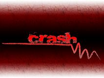 Crash. Symbol and text, bankruptcy, financial crisis, graphic Stock Illustration