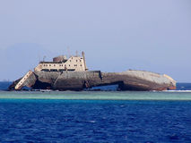 Crash. A great boat crash on the barrier reef in Sharm El Sheick sea Stock Photo