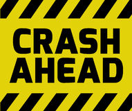 Crash Ahead sign Stock Image