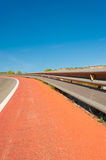 Crash barrier for bikes Royalty Free Stock Photography