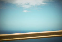 Crash barrier detail and blue sky in Spain Stock Images
