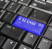 Crash button. Royalty Free Stock Photo