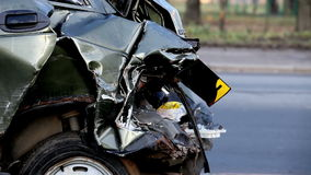 Crash car. The problems crash car accident stock footage