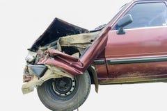 Crash car. Close up shot of Crash car on isolate background Royalty Free Stock Images