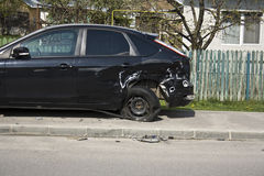 Crash car damage Royalty Free Stock Photography
