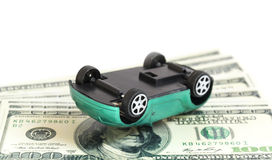 Crash car. On the dollars Stock Photo