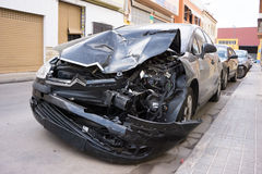 Crash Car Royalty Free Stock Image