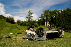 Crash car wreck Stock Image