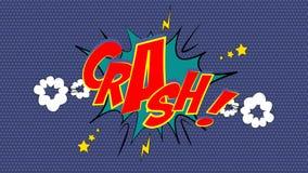 CRASH! Comic Book Bubble Stock Images