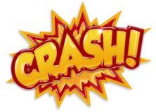 Crash. Comic book element isolated on white background Royalty Free Stock Photo