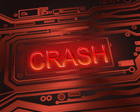 Crash concept. Royalty Free Stock Image